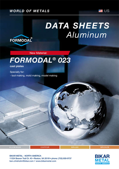 FORMODAL® 023 cast plates (aluminum data sheet)