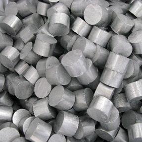 Pressed aluminum briquettes