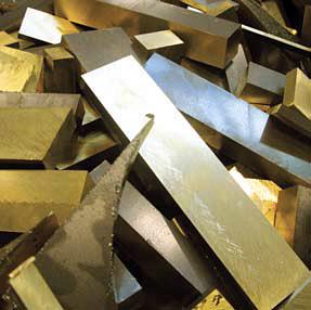 Solid brass waste
