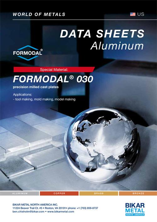 FORMODAL® 030 precision milled cast plates (aluminum data sheet)
