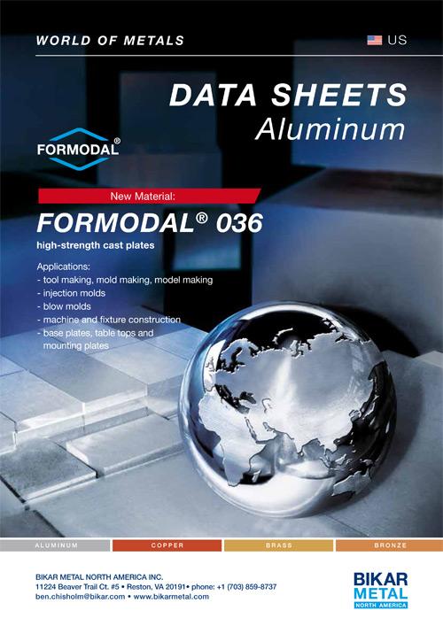 FORMODAL® 036 high-strength cast plates (aluminum data sheet)
