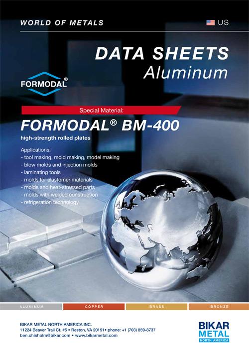FORMODAL® BM-400 high-strength rolled plates (aluminum data sheet)