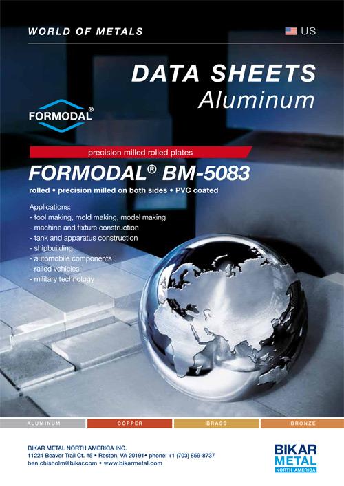 FORMODAL® BM-5083 precision milled rolled plates (aluminum data sheet)