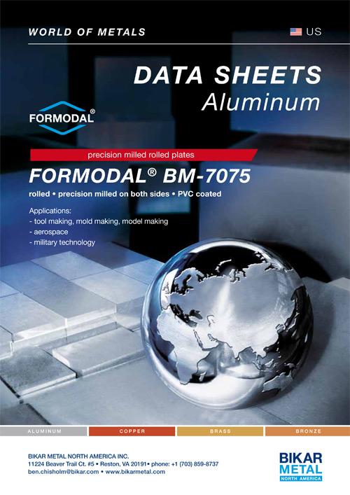 FORMODAL® BM-7075 precision milled rolled plates (aluminum data sheet)